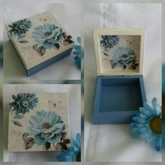 Cute Crafts, Diy And Crafts, Paper Crafts, Altered Boxes, Altered Art, Painted Wooden Boxes, Hand Painted, Packaging Dielines, Arte Country