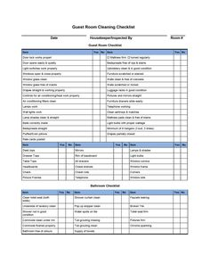 Residential House Cleaning Checklist  Timesheets