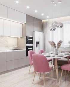 Kitchen Pantry Design, Luxury Kitchen Design, Luxury Kitchens, Interior Design Kitchen, Home Kitchens, White Kitchen Decor, Home Decor Kitchen, Small Apartment Kitchen, Dining Room Design