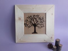 Wood Burning Art, Wood Painting, Tree of Love, Handmade Art, Pyrography Art, Framed Painting
