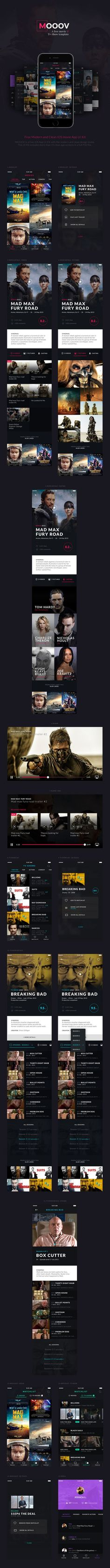MOOOV - Free Movie iOS App Template by Leser Loïc