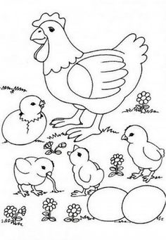 Alot Chicken Coloring Pages from Animal Coloring Pages category. Printable coloring pages for kids that you can print out and color. Have a look at our collection and print the coloring pages for free. Chicken Coloring Pages, Farm Animal Coloring Pages, Preschool Coloring Pages, Easter Coloring Pages, Free Printable Coloring Pages, Coloring Book Pages, Coloring Pages For Kids, Chicken Drawing, Chicken Quilt