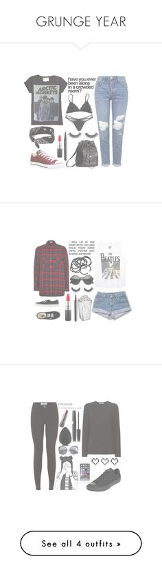 """GRUNGE YEAR"" by danaceciliamonroe ❤ liked on Polyvore featuring Topshop, Converse, claire's, H&M, Marc Jacobs, MAC Cosmetics, Agent Provocateur, aNYthing, Wet Seal and River Island"