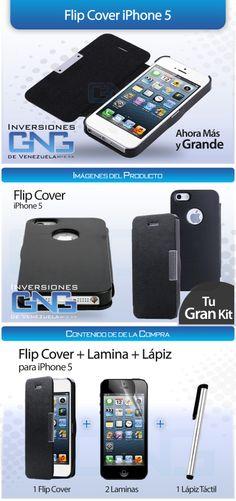 Flip Cover iPhone 5. Cliente Inversiones GNG de Venezuela. Elaborado por iGrafi