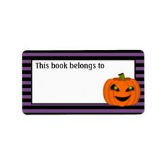 Halloween Pumpkin Label - labels customize diy cyo personalize