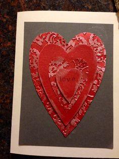 Handmade card/hearts/valentine