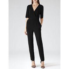 Buy Reiss Brooke Slim Leg Jumpsuit, Black Online at johnlewis.com