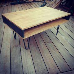 Wood and steel table diy Hair ping legs Ripaton