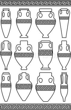 21 Best Coloring Pages/LineArt Ancient Greek City States