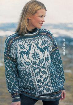 New Knitting Charts Mittens Link Ideas Nordic Pullover, Nordic Sweater, Knitting Charts, Knitting Stitches, Knitting Patterns, Stitch Patterns, Vintage Knitting, Lace Knitting, Crochet Cardigan