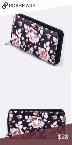 15% OFF 2+✨ floral print black wallet Super cute wallet with lots of slots inside WILA Bags Wallets