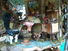 Little fairy houses made by hand with materials of nature