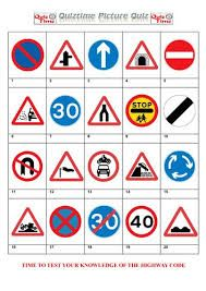 Image result for printable road sign picture quiz