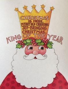 Christmas Is Here-Handmade Magnets-Mary Engelbreit Artwork