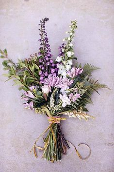 Purple Wedding Flowers Because of the long stem and beautiful purple hue, lavender is a great herb to add a pop of color into your DIY bouquets - Find inspiration among these stunning lavender wedding details. Small Wedding Bouquets, Floral Wedding, Diy Wedding, Wedding Flowers, Trendy Wedding, Wedding Ideas, Herb Wedding, Wedding Things, Church Wedding