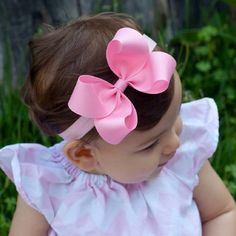 White Headband Baby Headbands Little Baby Girl Baby Hair Bows Hair Ribbons Little Fashionista Little Girl Hairstyles Baby Boutique Baby Design Big Hair Bows, Hair Ribbons, Making Hair Bows, Ribbon Bows, Newborn Bows, Baby Bows, Baby Headbands, Boutique Hair Bows, Baby Boutique