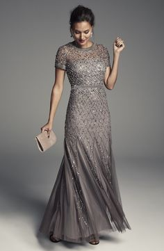 Silver or Gray Mother of the Bride Dresses. Dresses for the mother-of-the bride . Silver or Gray Mother of the Bride Dresses. Dresses for the mother-of-the bride and mother-of-the-groom in silver, gray, and other neutral colors. Brides Mom Dress, Mother Of The Bride Dresses Long, Mothers Dresses, Mother Of Bride Dresses, Long Mothers Dress, Grey Evening Dresses, Evening Dresses Plus Size, Bride Gowns, Bride Groom Dress