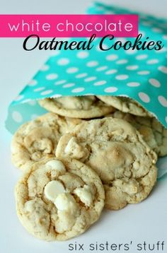White Chocolate Chip Oatmeal Cookies on MyRecipeMagic.com