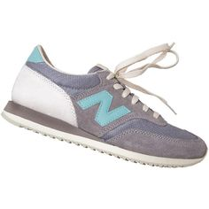 New Balance Women's 620 Grey Low-Top Sneaker ($80) ❤ liked on Polyvore featuring shoes, sneakers, laced shoes, sports footwear, new balance, gray shoes and sport shoes