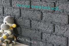 How to make Faux Brick using styrofoam and stone texture paint - Fabulous detailed Tutorial