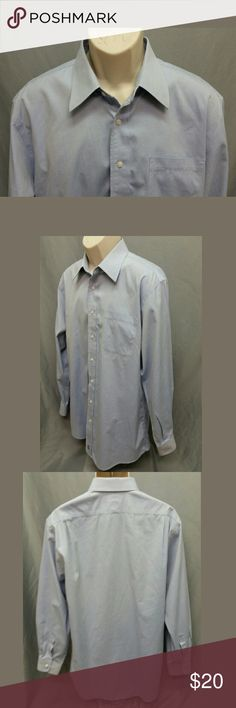 """NORDSTROM Mens Shirt Tradional Fit WRINKLE FREE Great clean condition. Rim of cuffs have light thread wear from normal use, not noticable worn and no other major visible flaws or defects. Looks great dressed up or casual with jeans. Elegant embroidered Nordstrom """"N"""" sailboat at bottom of shirt with """"Smartcare"""" Wrinkle Free Tradional Fit materials.   Size: 16/34 95% Cotton, 5% Organic Cotton   Chest (armpit to armpit): 24"""" Full Length (base of collar to bottom of shirt): 33 1/2"""" Sleeve (outer…"""