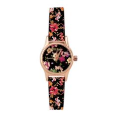 Add a fresh finishing touch to your outfit with this watch that's blooming with color.