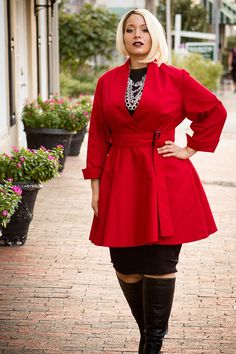 Plus Size Custom Wrap Coat Dress by aconversationpiece on Etsy