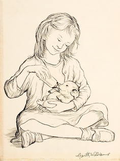 I loved this book. illustrations by Garth Williams, Charlotte's Web, 1952
