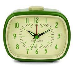 Fireworks Gallery - Home & Lighting - Clocks - Desk & Tabletop Clocks - Retro Alarm Clock - Green