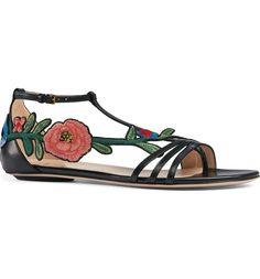 Main Image - Gucci Ophelia Flower Sandal (Women)