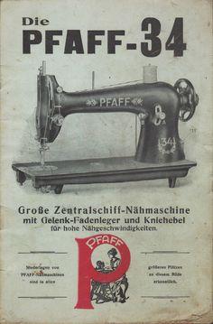 KAISERSLAUTERN, Katalog 1920, Nähmaschinen-Fabrik G. M. Pfaff Große Nähmaschine