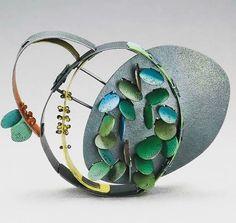 Beautifully crafted brooch by Yuko Fujita, Melbourne.