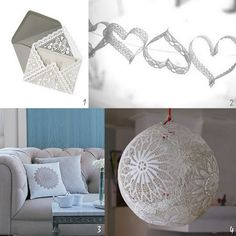 I love lace and doilies! <3 Lots of great ideas for both. Including a wedding dress made out of doilies!