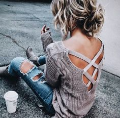 Open back sweaters.
