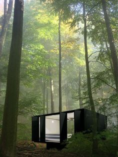 More ideas below: Amazing little tree house kids architecture Modern luxury tree house interi Forest Cabin, Forest House, Cabins In The Woods, House In The Woods, Contemporary Architecture, Interior Architecture, Amazing Architecture, Sustainable Architecture, Casas Containers