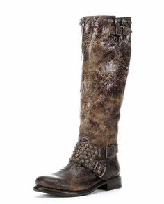 Women's Jenna Studded Tall Boot - Chocolate Too worn??