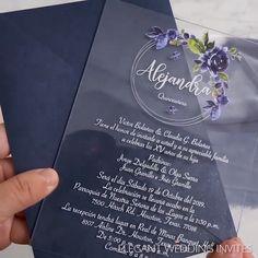 modern wedding Modern Clear Acrylic Wedding Invitation Inspiration with floral designs Acrylic Wedding Invitations, Elegant Wedding Invitations, Wedding Invitation Cards, Wedding Cards, Diy Wedding, Wedding Reception, Dream Wedding, Invitation Ideas, Rustic Wedding