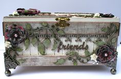 Really nice altered box - a lot I love about this one!  ********************************************* Moments of Tranquility... by Natasha Naranjo Aguirre - #altered #art #box - tå√