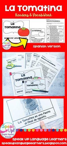 La Tomatina, Spanish Festival Reader & Vocabulary Pack ~ Spanish Version Elementary Spanish, Spanish Classroom, Teaching Spanish, Bilingual Classroom, Elementary Teaching, Spanish Teacher, Classroom Ideas, Spanish Lesson Plans, Spanish Lessons
