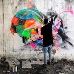 street art Ł7ΜΔŦŘƗЖ in Sintra Portugal