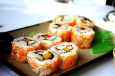 I want maki and many more kinds of sushi. :) Saisaki or Sambo please. :)