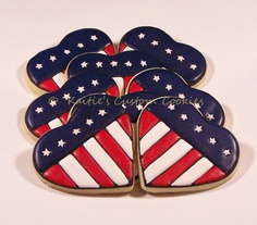 Patriotic Heart Sugar Cookie