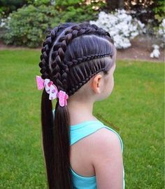 Today's braids inspired by lovely Beth to wish her a very happy Birthday🎉 Hope you are having a wonderful day🌸 Adorable… Lil Girl Hairstyles, Cute Hairstyles For Kids, Princess Hairstyles, Pretty Hairstyles, Kids Braided Hairstyles, Hairdos, Short Hairstyles, Curly Hair Styles, Natural Hair Styles
