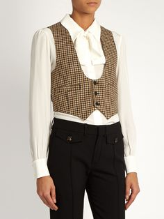 Tweed wool waistcoat | Saint Laurent | MATCHESFASHION.COM US