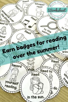 Summer Reading Passport is a fun way to encourage summer reading. Students earn badges for reading in different ways. They choose the books and read whatever they want. Simple, differentiated, reading challenge! From More Than a Worksheet $