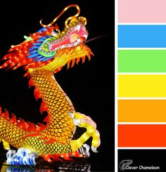 Here Be Dragons, Year Of The Dragon, Chameleon, Color Inspiration, Clever, Quilts, Movie Posters, Quilt Sets, Film Poster