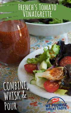 Whip up a delicious tomato vinaigrette in 10 or less minutes.