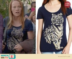 Daphne's blue tiger tee on Switched at Birth Katie Leclerc, Switched At Birth, Blue Tigers, Stitch Fix, Lucky Brand, Random Stuff, Tv Shows, Costumes, T Shirts For Women