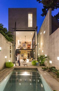 Gestalten   Raw Home by Taller Estilo : The Family Home Takes Full Advantage of the Narrow Plot