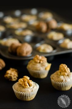 Mini muffin alle noci